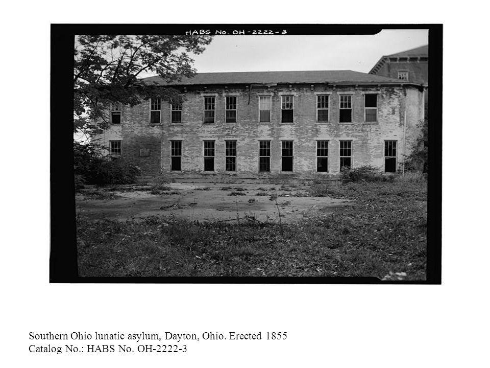 State lunatic asylum, Buffalo, NY, built 1871 Catalog No.: HABS No. NY 0 5606