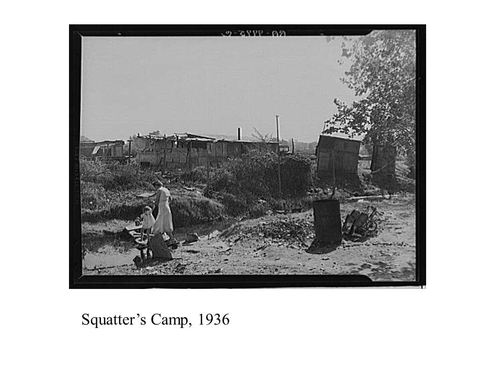 Dispossessed Arkansas farmers in Bakersfield, CA 1935