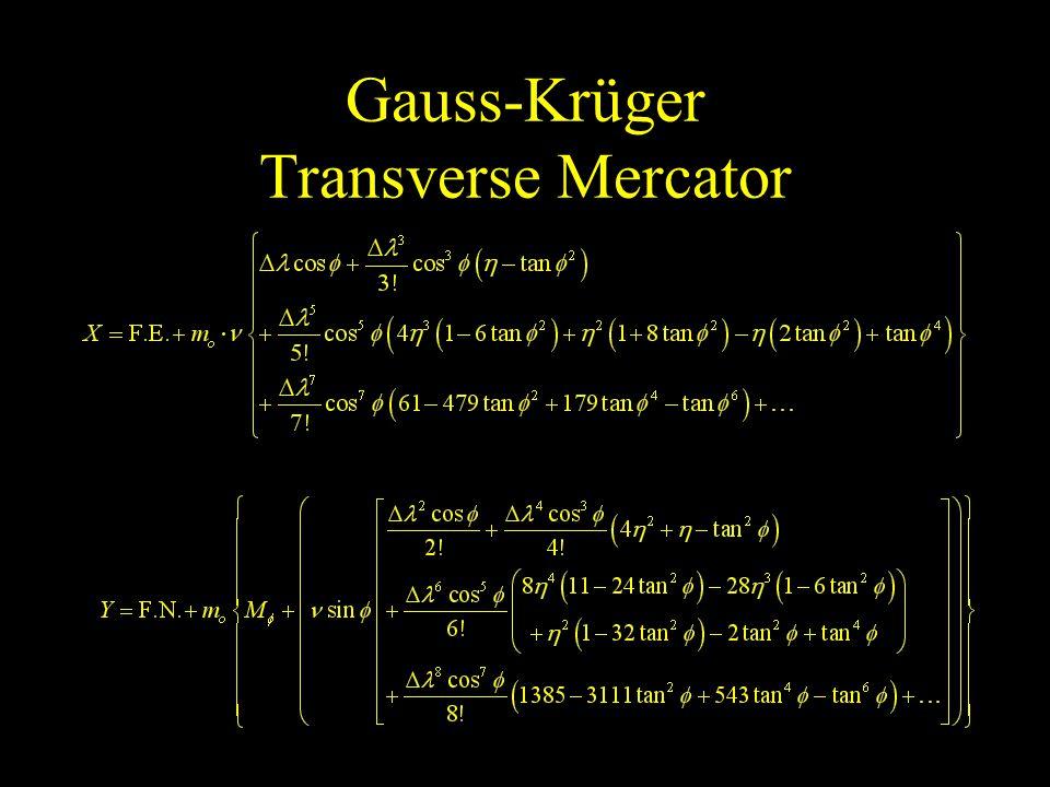 Gauss-Krüger Transverse Mercator