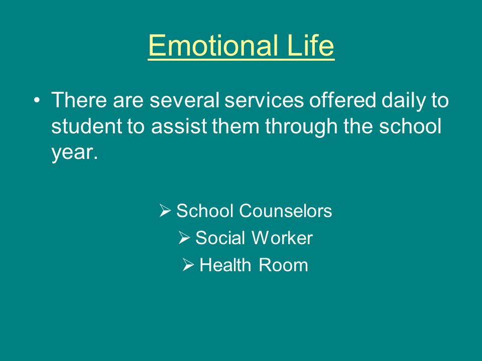 There are several services offered daily to student to assist them through the school year.