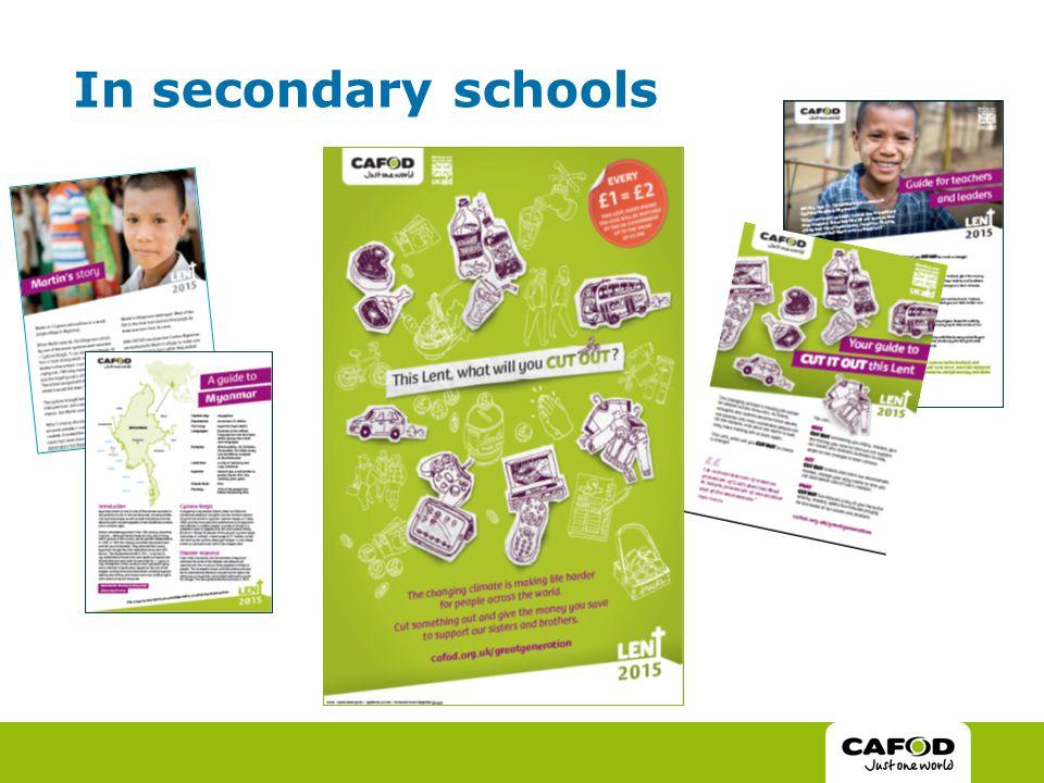 In secondary schools