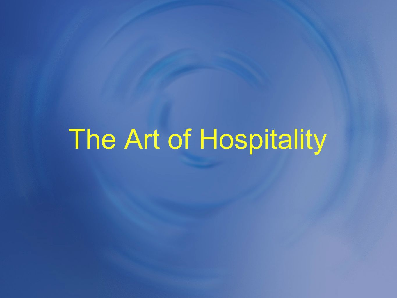 The Art of Hospitality The Script (after Mass) Don t judge if they leave Mass early (maybe ill, or late for work, etc.); See you next week... Introduce Visitors to Priests (Name & home town/state).