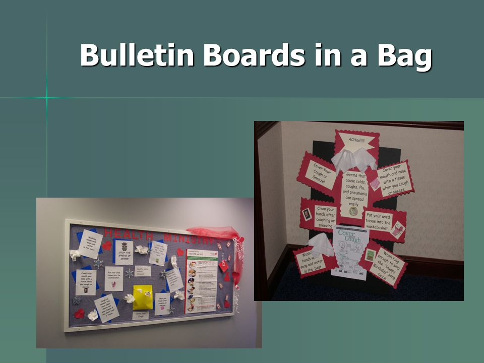 Bulletin Boards in a Bag