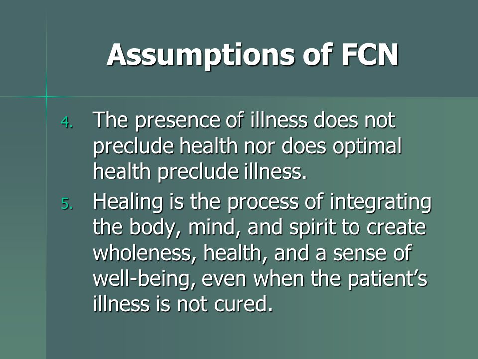 Assumptions of FCN 4.