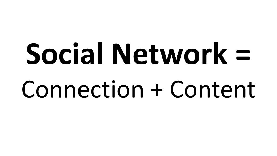 Social Network = Connection + Content