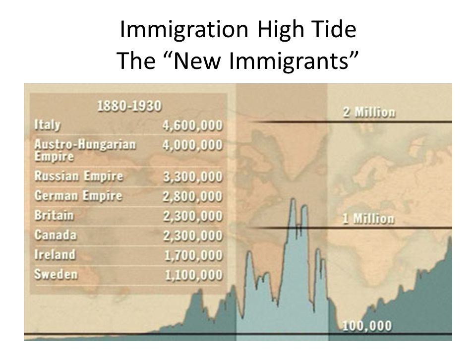 Immigration High Tide The New Immigrants
