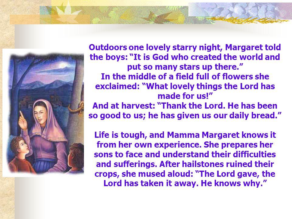 3. Margaret kept an eye on her little, intelligent, alert John and gave him his freedom.
