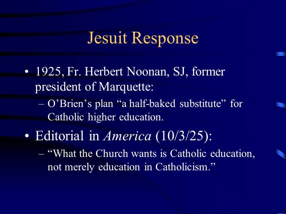 Jesuit Response 1925, Fr.
