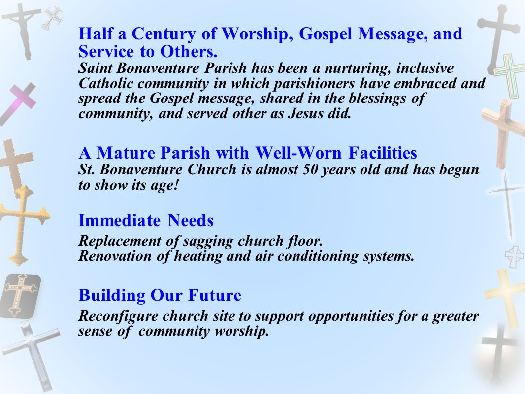 Half a Century of Worship, Gospel Message, and Service to Others.