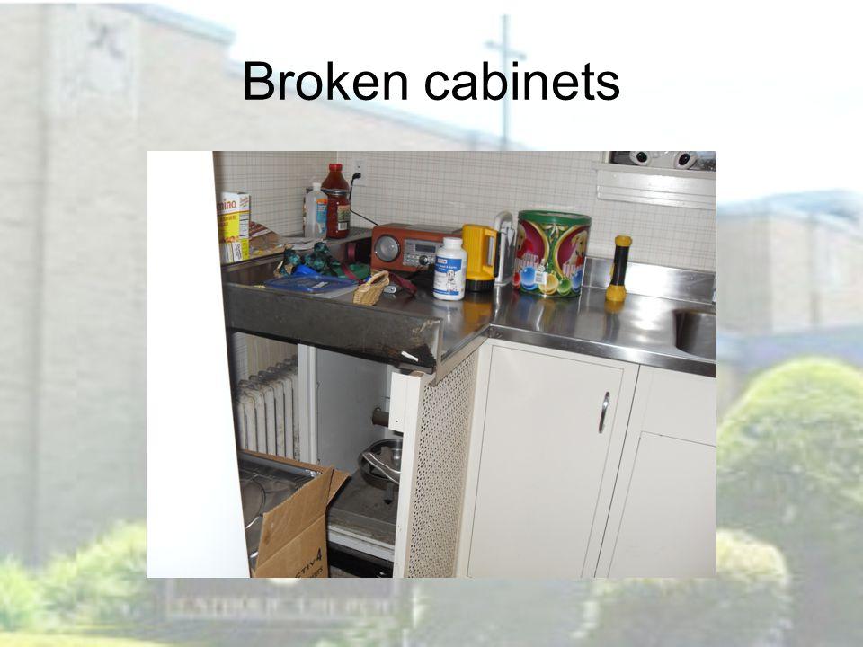 Broken cabinets