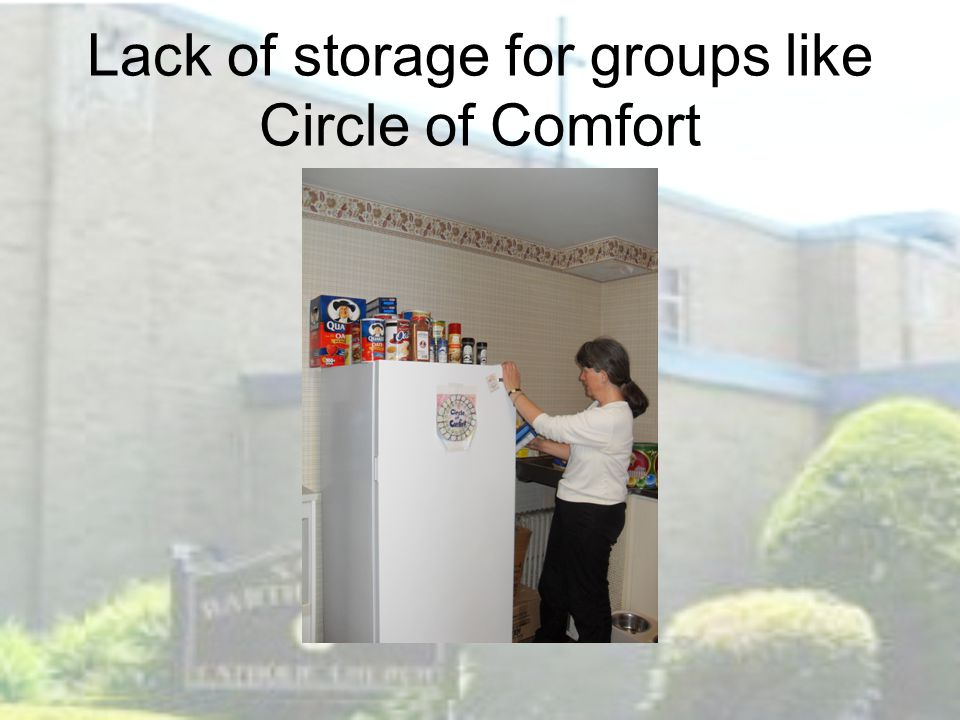 Lack of storage for groups like Circle of Comfort