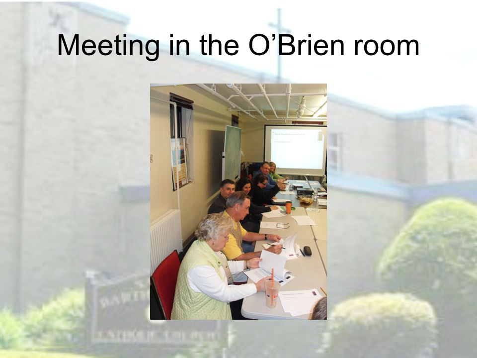 Meeting in the O'Brien room