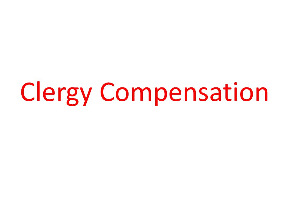 Clergy Compensation