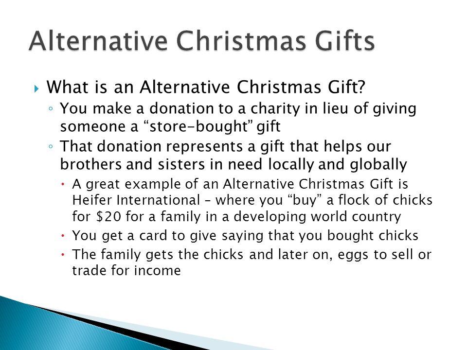  Why Start an Alternative Christmas Gift Program.