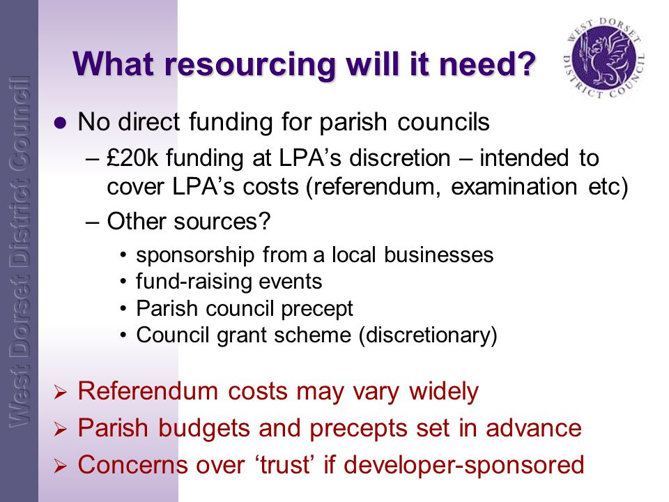 What resourcing will it need.