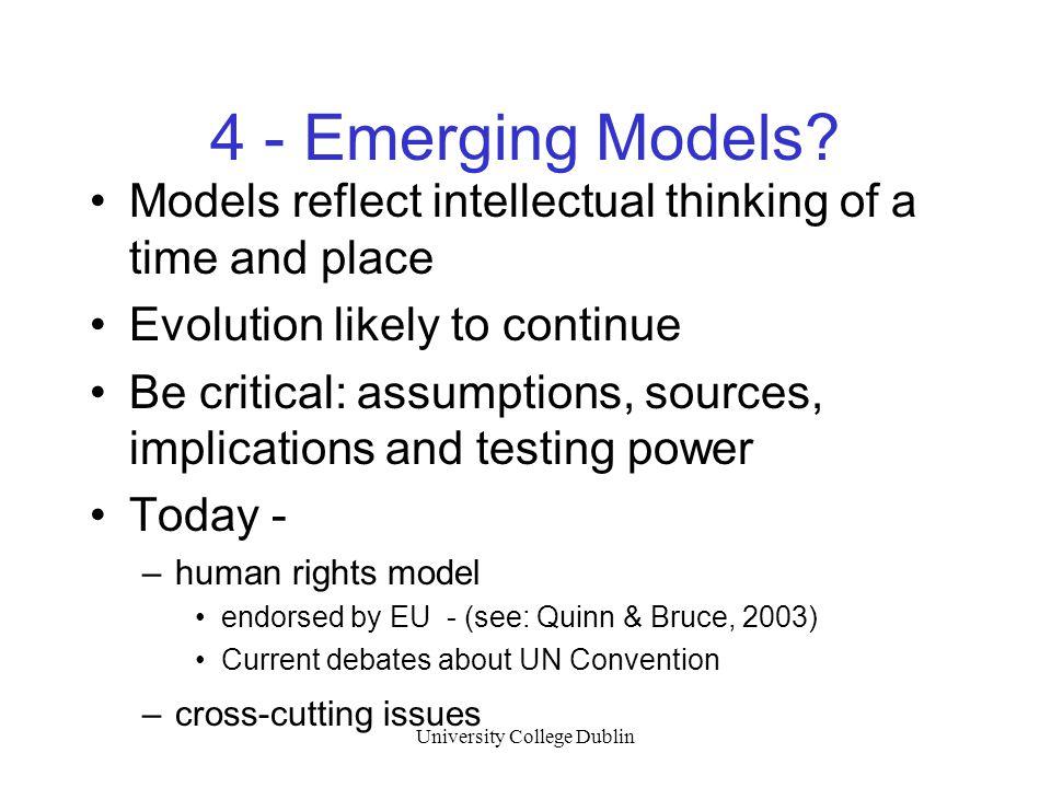 University College Dublin 4 - Emerging Models.