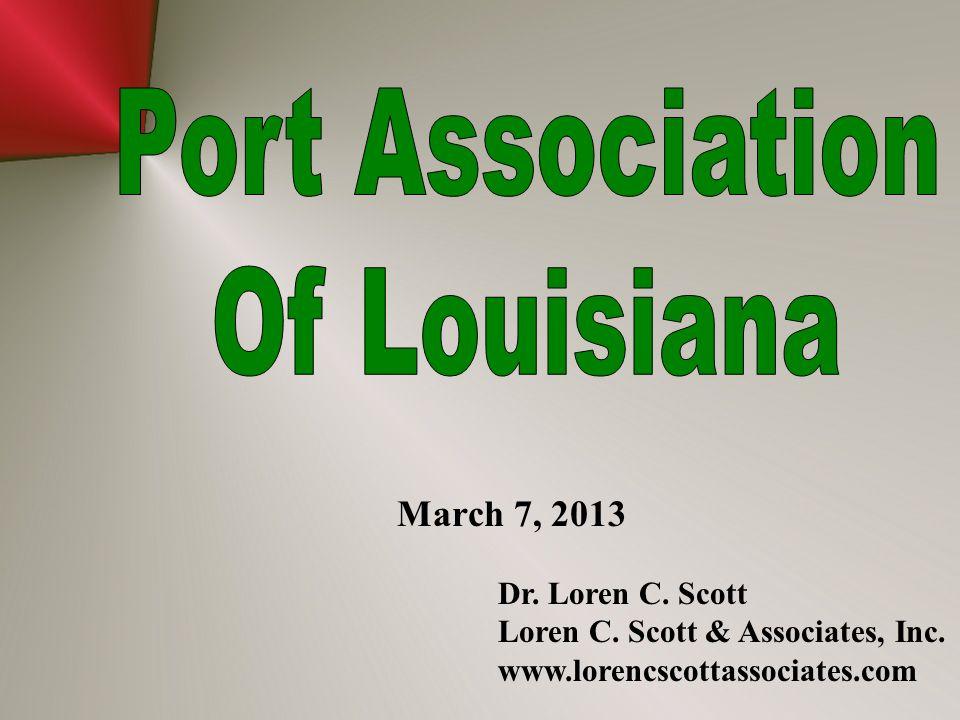March 7, 2013 Dr. Loren C. Scott Loren C. Scott & Associates, Inc. www.lorencscottassociates.com