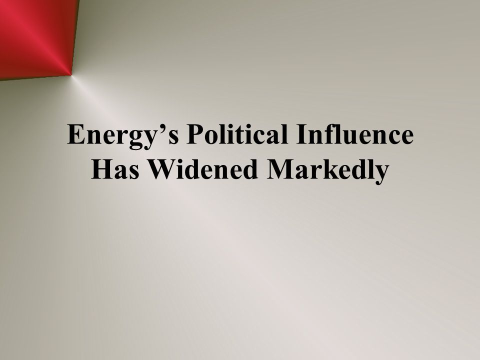 Energy's Political Influence Has Widened Markedly