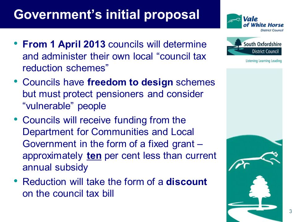 14 But there is an alternative proposal Consultation paper issued by DCLG on 28 August 2012 Recognises parish problem and suggests alternative to the current proposals –Town and parish taxbases calculated without taking CTRS into account –Billing authorities transfer funds to the collection fund equivalent to costs of CTRS for towns and parishes