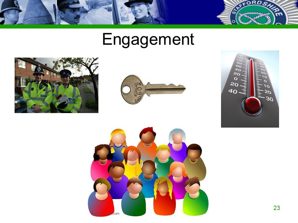 Staffordshire Police Corporate PowerPoint Template by Carl Uttley 9545 23 Engagement