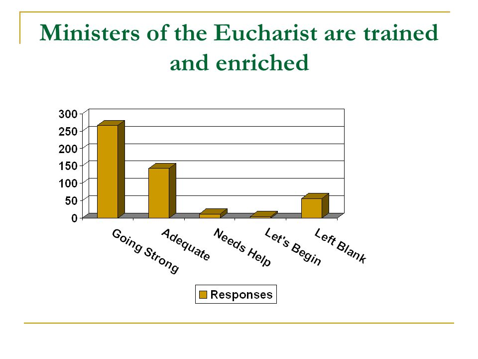 Ministers of the Eucharist are trained and enriched