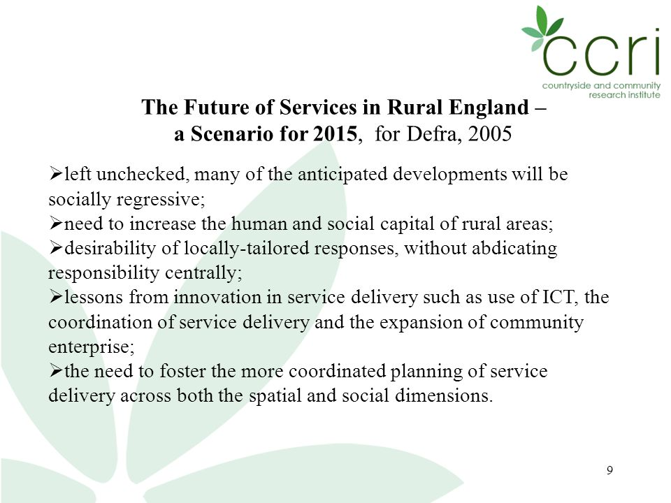 20 Where now for rural community research.