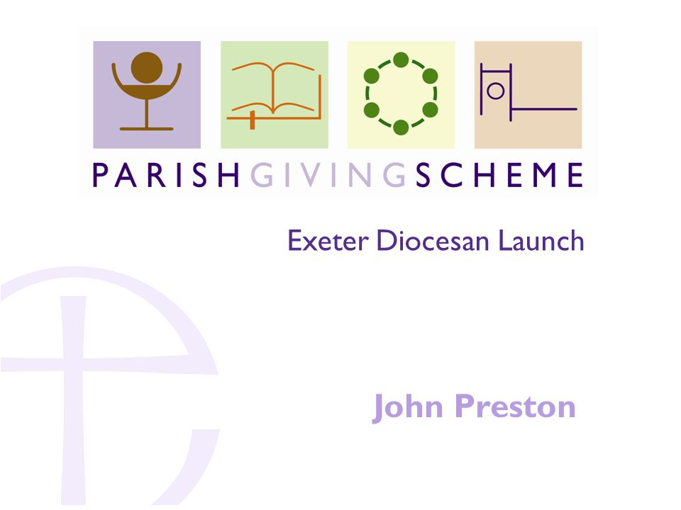 John Preston Exeter Diocesan Launch