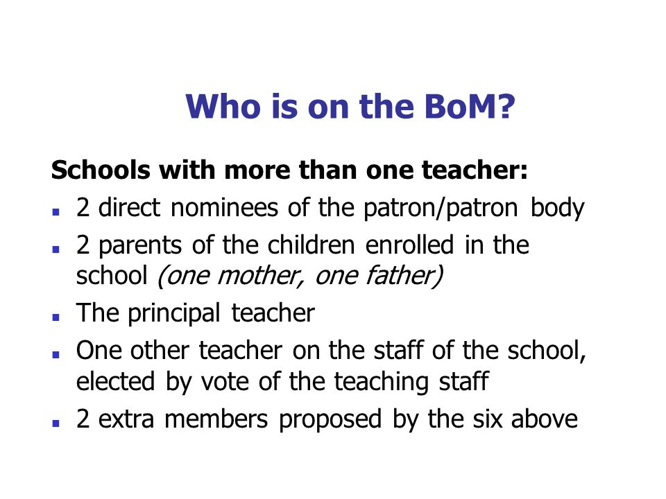 Working Together as a Board Positive/negative issue Home school links clarified….