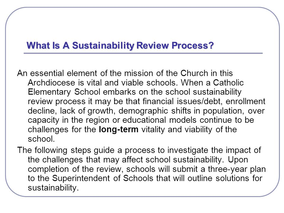 What Is A Sustainability Review Process.