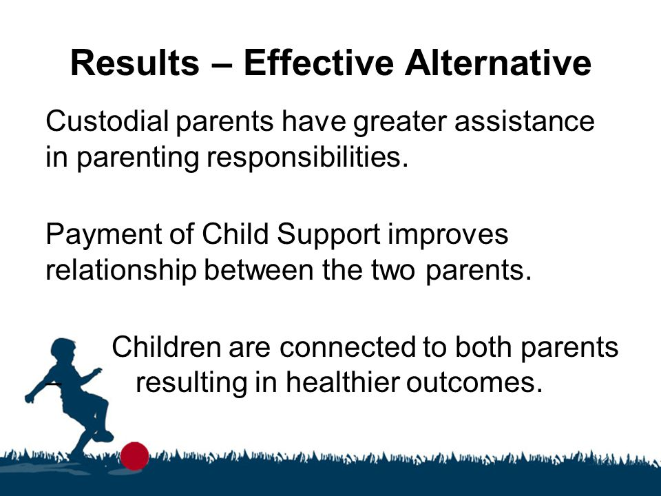 Results – Effective Alternative Custodial parents have greater assistance in parenting responsibilities.