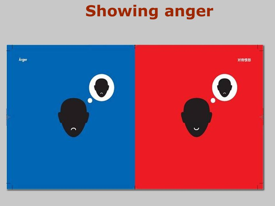 Showing anger