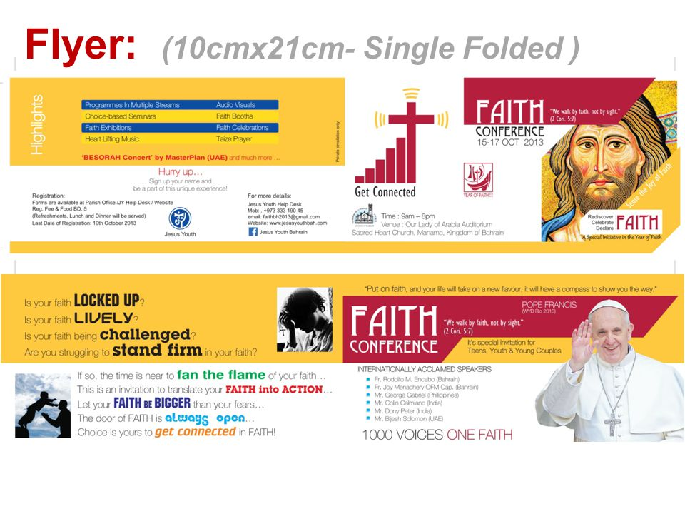 Flyer: (10cmx21cm- Single Folded )