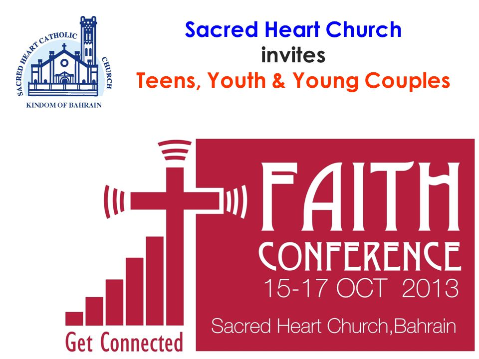 Sacred Heart Church invites Teens, Youth & Young Couples