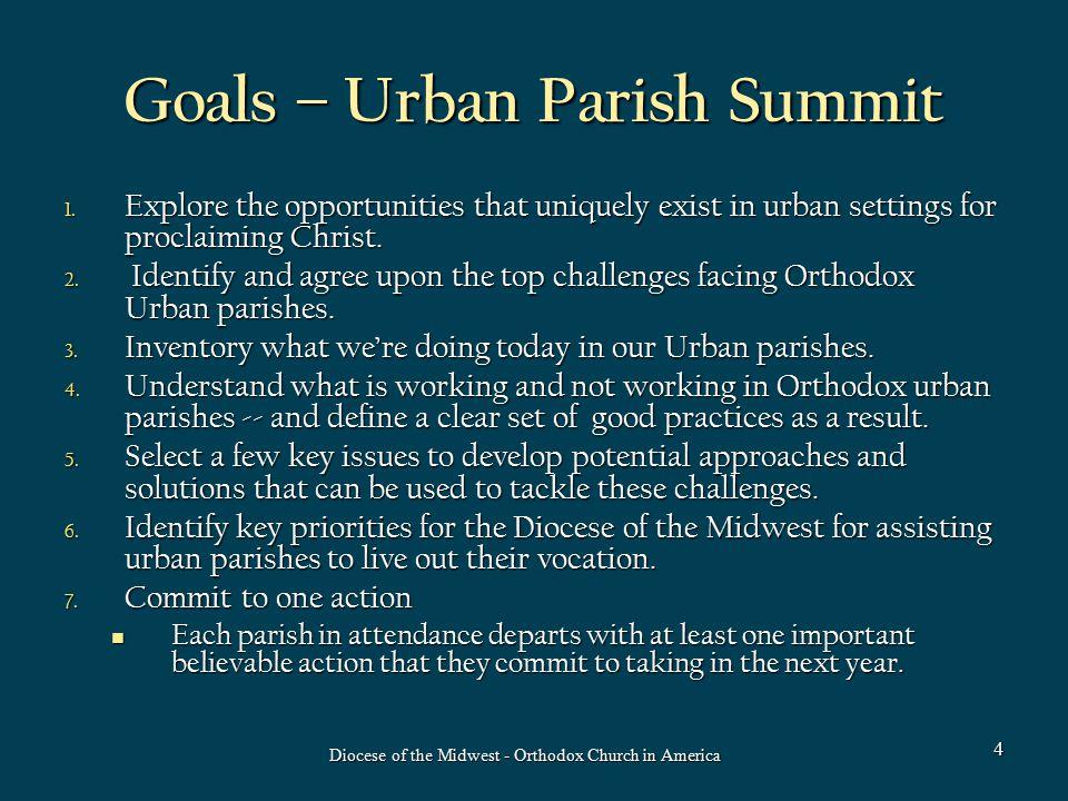 Goals – Urban Parish Summit 1.