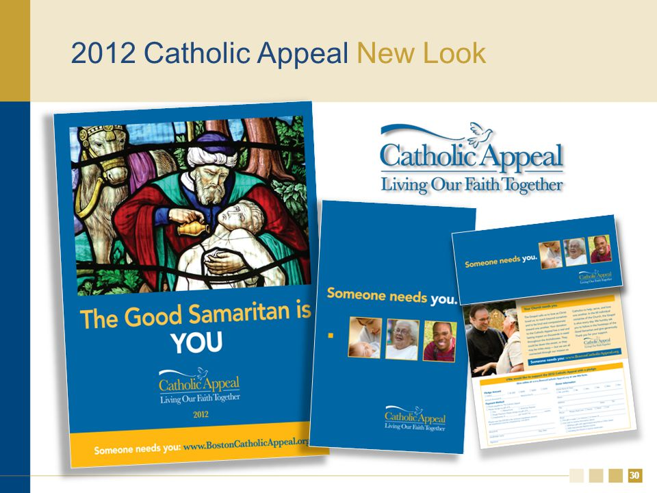 30 2012 Catholic Appeal New Look