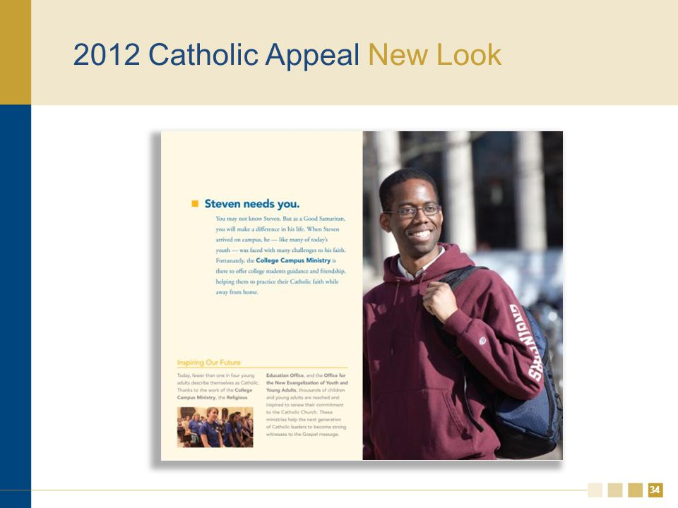 34 2012 Catholic Appeal New Look