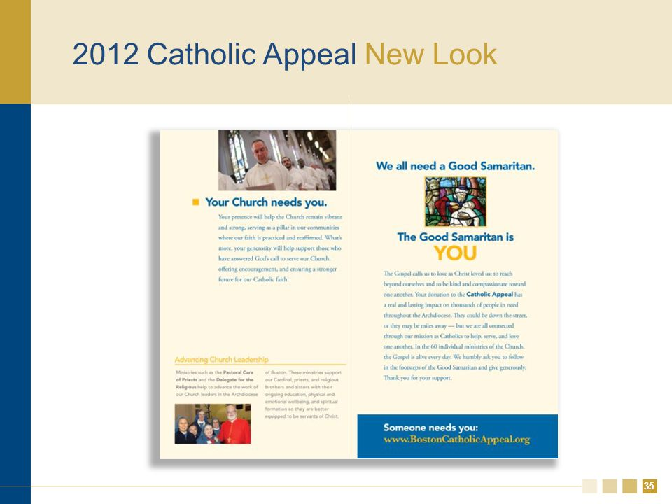 35 2012 Catholic Appeal New Look