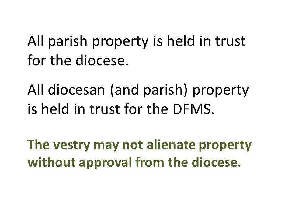 Are you taking reasonable precautions to protect the church's money and other assets.