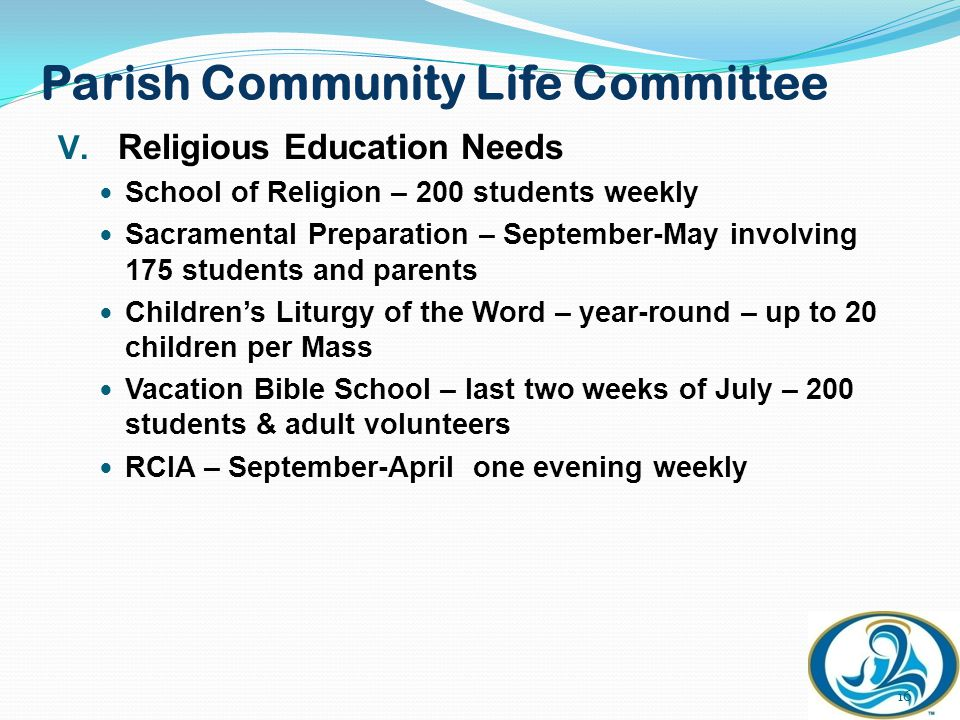 Parish Community Life Committee V.