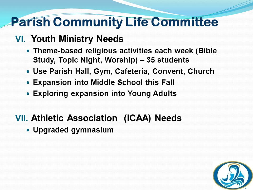 Parish Community Life Committee VI.
