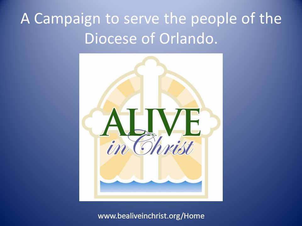 Alive in Christ Committee Campaign Manager Shann Roach Co-Chair Families Dan & Jenny Williams John & Jenn Murphy Major Gifts Co-Chairs Don & Gudrun Martyny Greg & Jill Meunier Co-Administrators Joan Murray Mary Ann Reiner Parish Wide Gifts Gladys Mercadal Communications Frankie Elliott Prayer Jamie & Andrea Beu YA2 Youth ProgramPatty Blouin Diocese Counsel Casey Schroder Pastoral Counsel Father David Scotchie