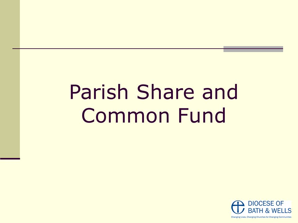 Parish Share and Common Fund