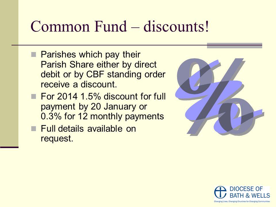 Common Fund – discounts.