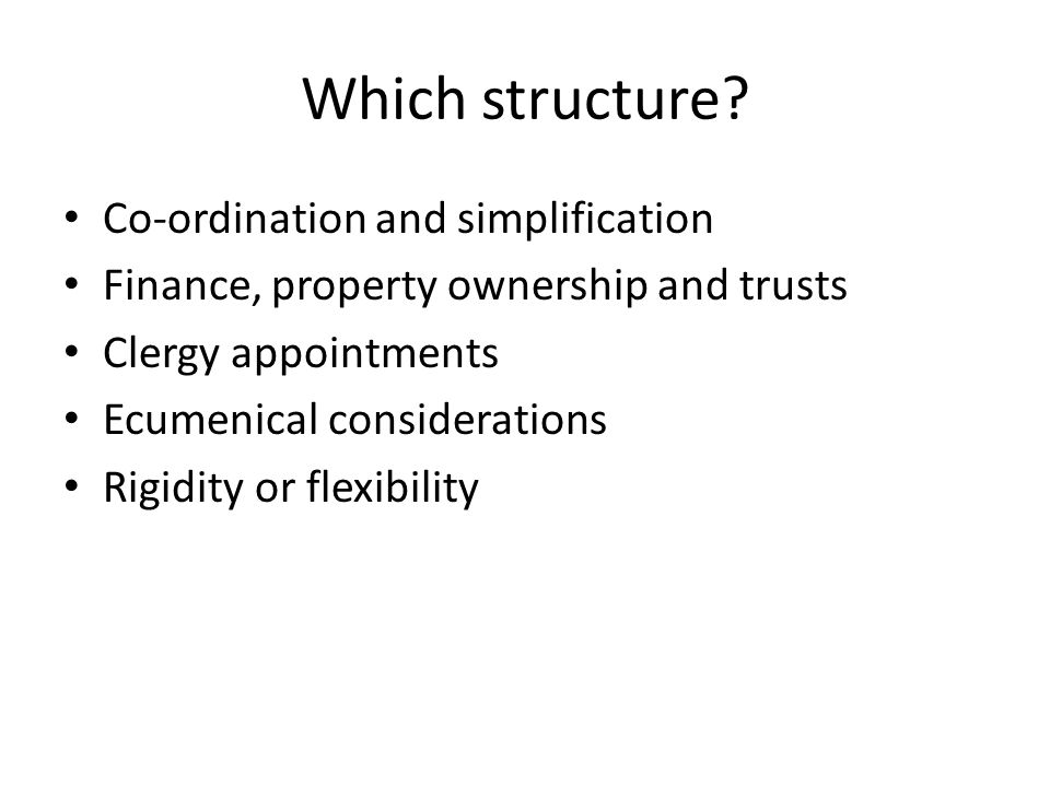 Which structure.