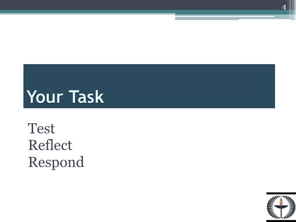 Test Reflect Respond 4