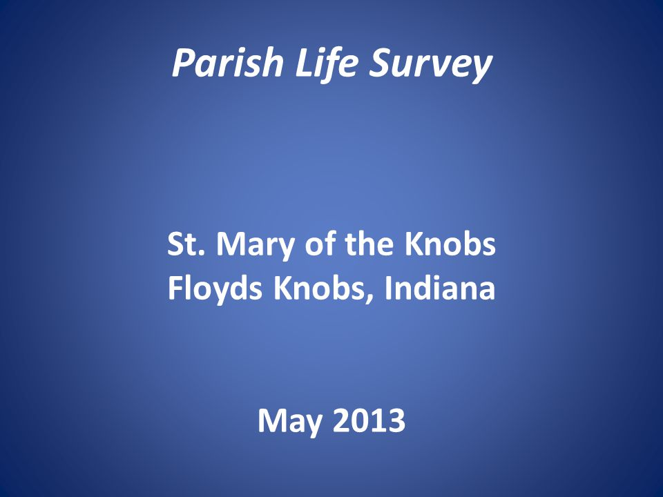 Differences by Generation There are no significant generational differences in respondents' evaluation of parish efforts to nurture parish spirituality.