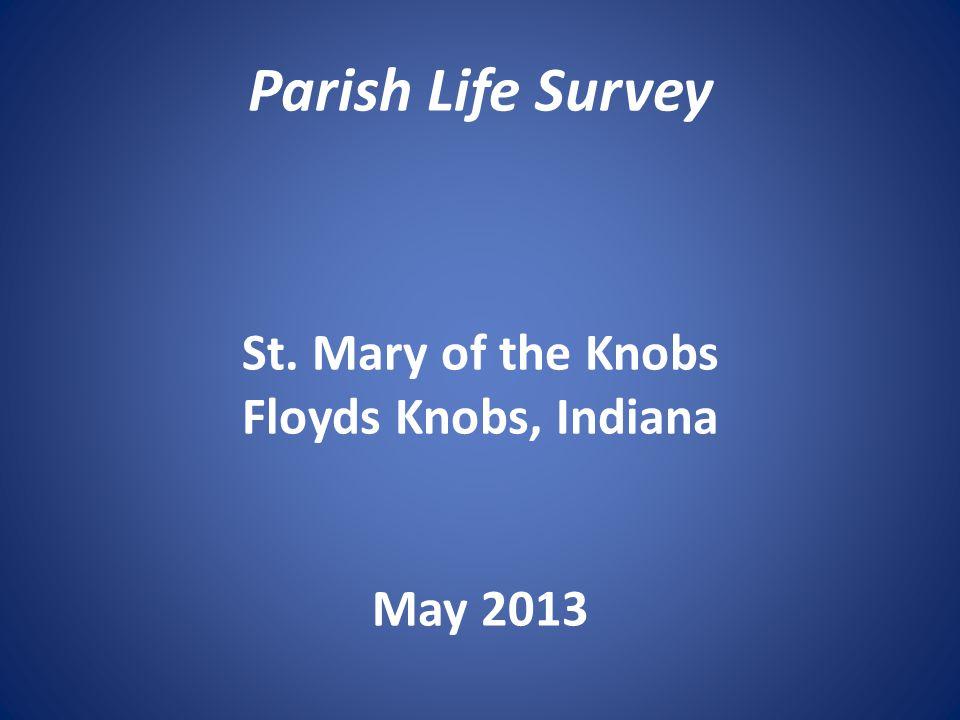 Involvement in Parish Activities