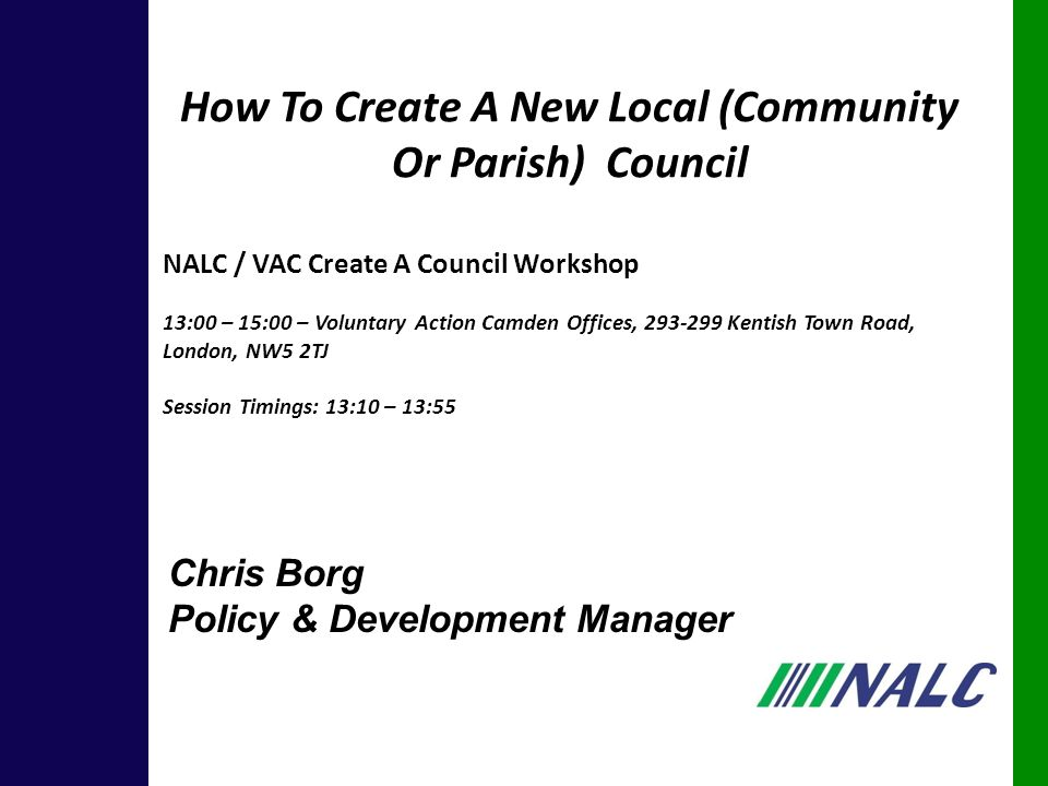 Summary 3.Background; 4. Benefits Of A Parish Council; 5.