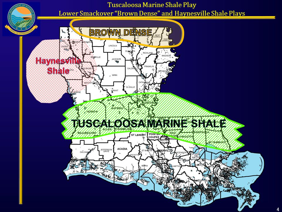 Tuscaloosa Marine Shale Play Lower Smackover Brown Dense and Haynesville Shale Plays 4