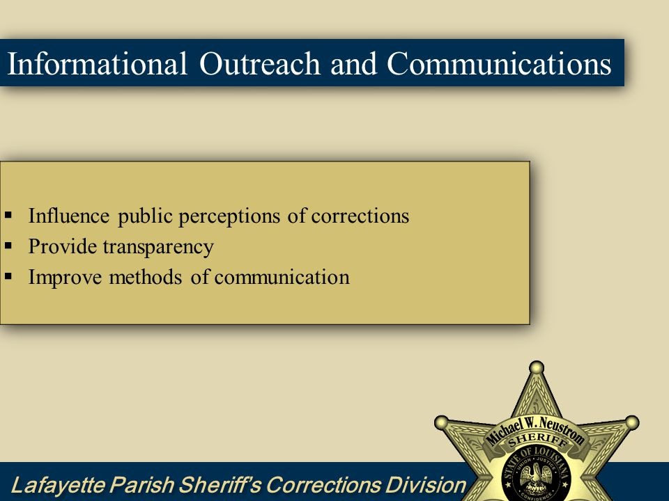 Informational Outreach and Communications